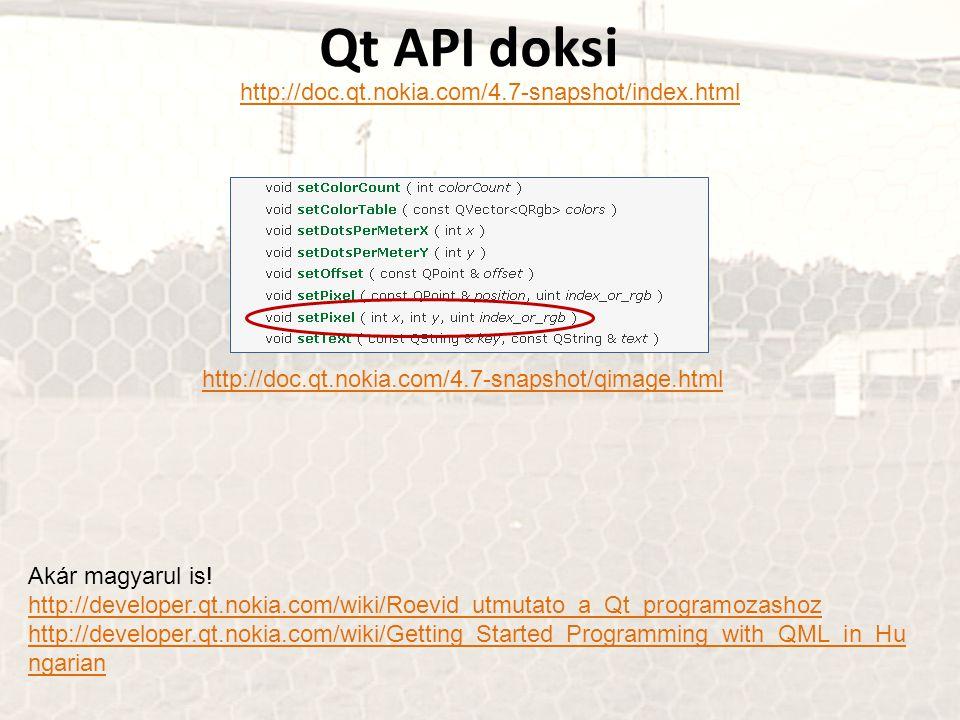 Qt API doksi http://doc.qt.nokia.com/4.7-snapshot/index.html