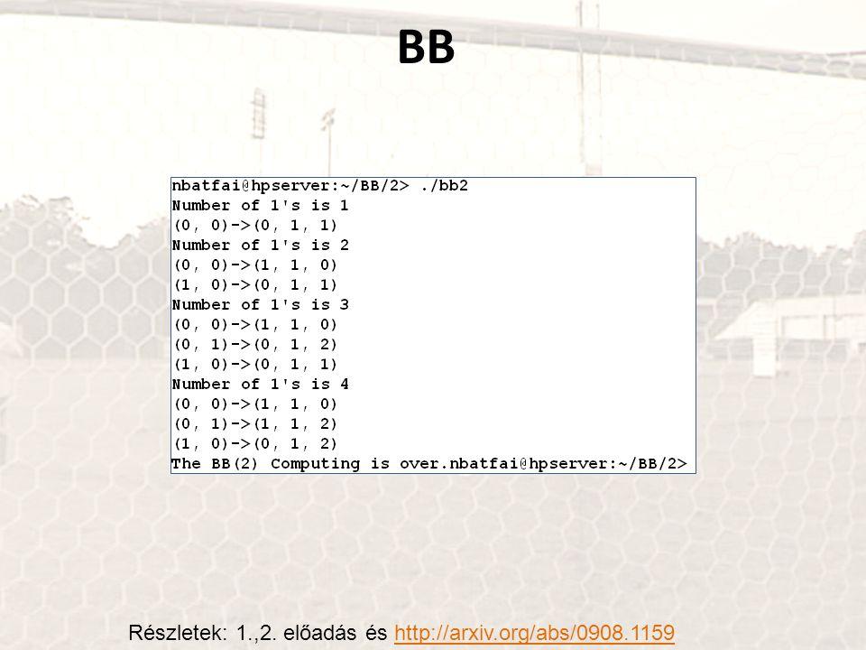 BB Részletek: 1.,2. előadás és http://arxiv.org/abs/0908.1159