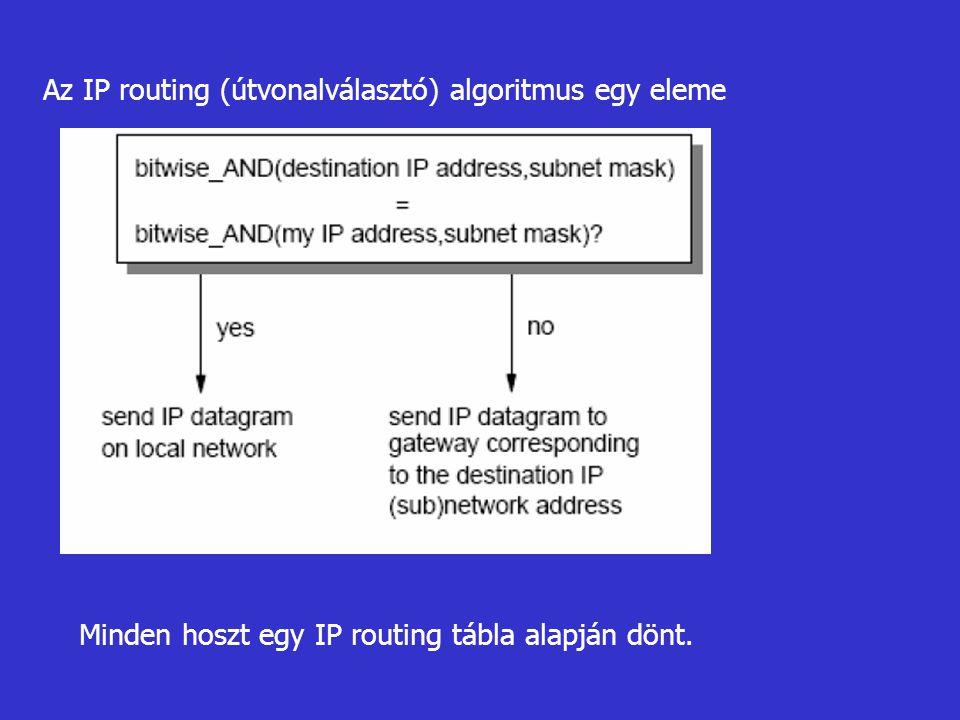 Az IP routing (útvonalválasztó) algoritmus egy eleme