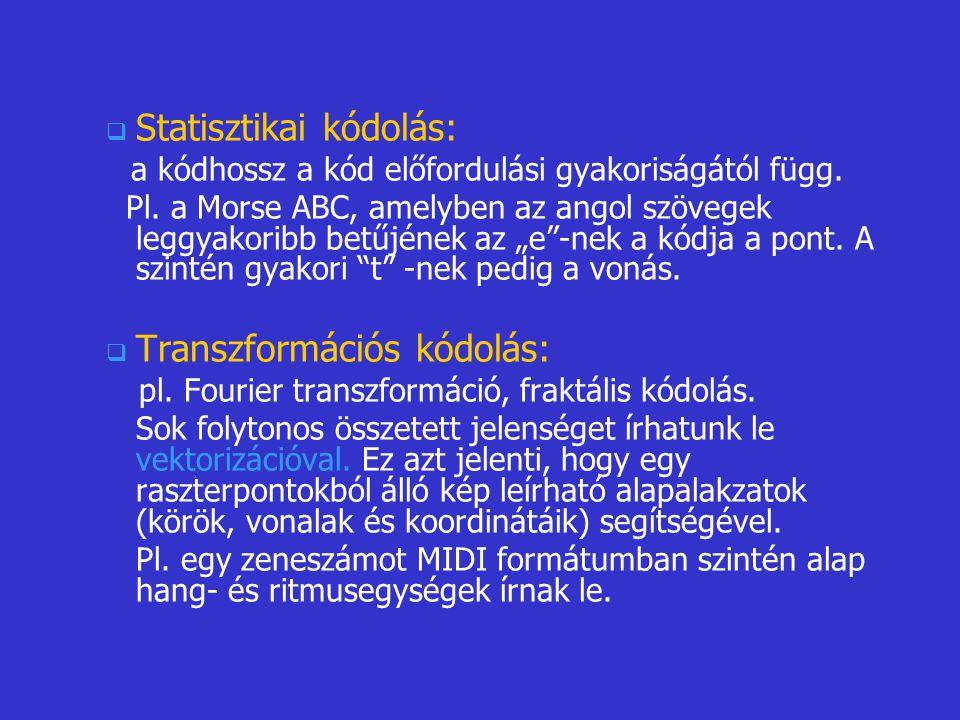 Statisztikai kódolás: