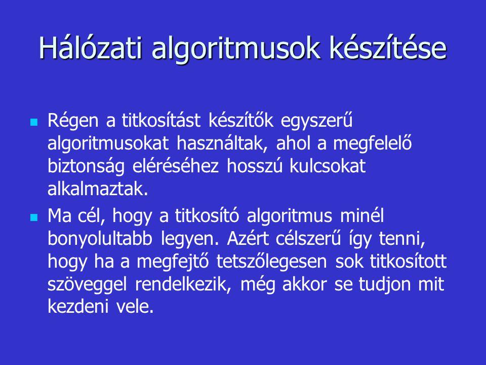 Hálózati algoritmusok készítése