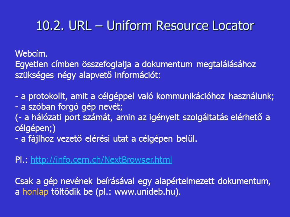 10.2. URL – Uniform Resource Locator