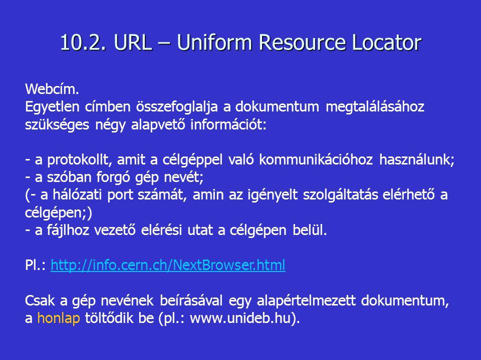 10.2. URL – Uniform Resource Locator