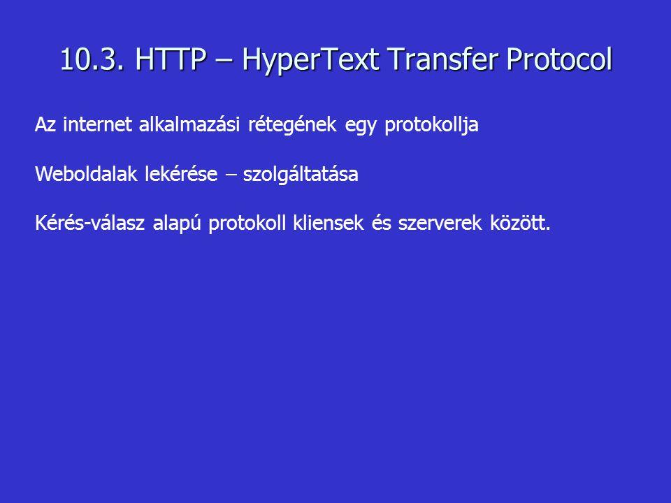10.3. HTTP – HyperText Transfer Protocol