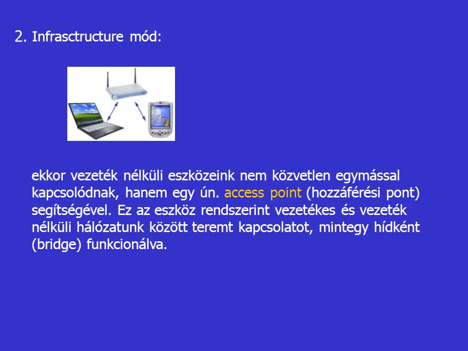 2. Infrasctructure mód: