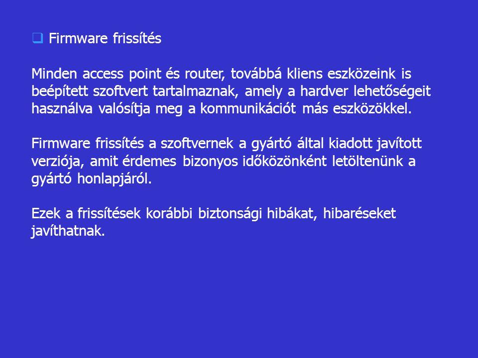 Firmware frissítés