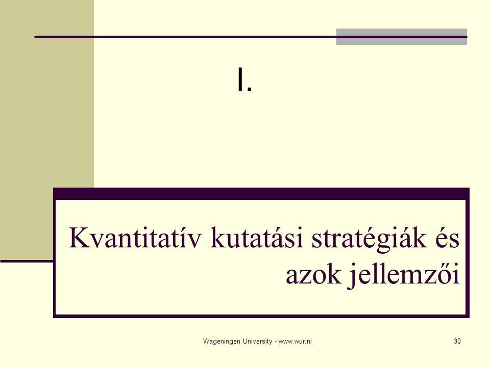 Kvantitatív kutatási stratégiák és azok jellemzői