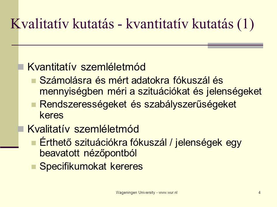 Kvalitatív kutatás - kvantitatív kutatás (1)