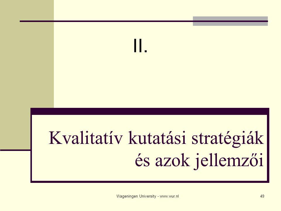 Kvalitatív kutatási stratégiák és azok jellemzői