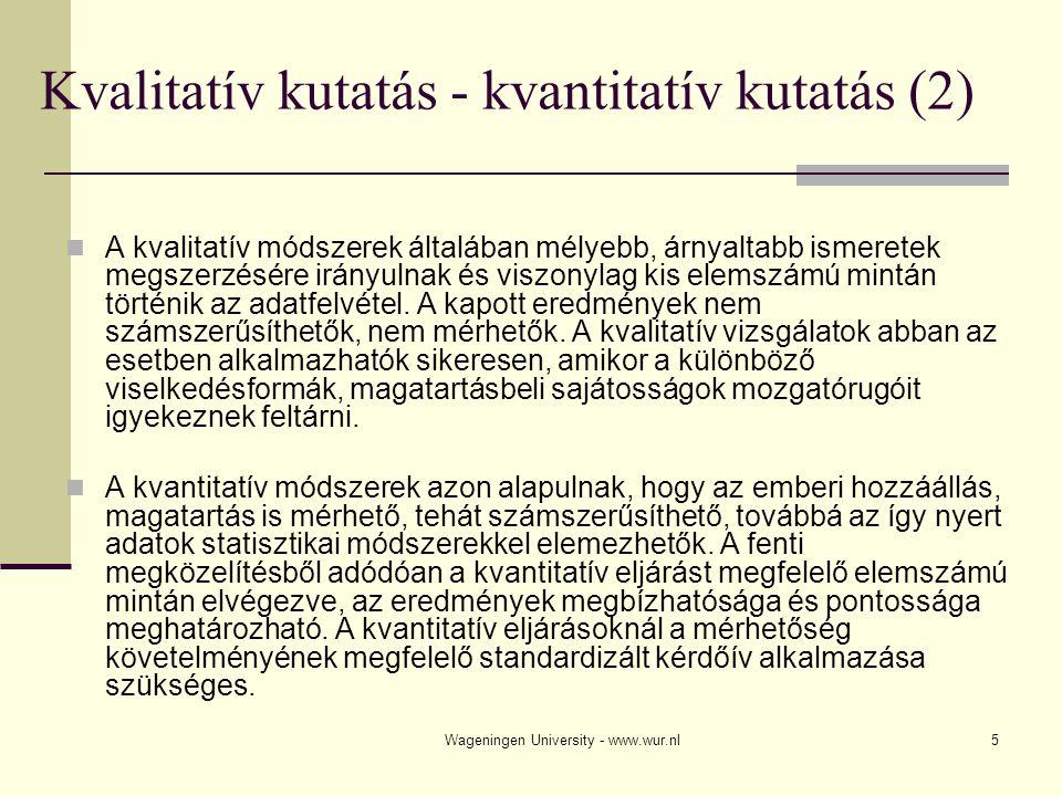 Kvalitatív kutatás - kvantitatív kutatás (2)