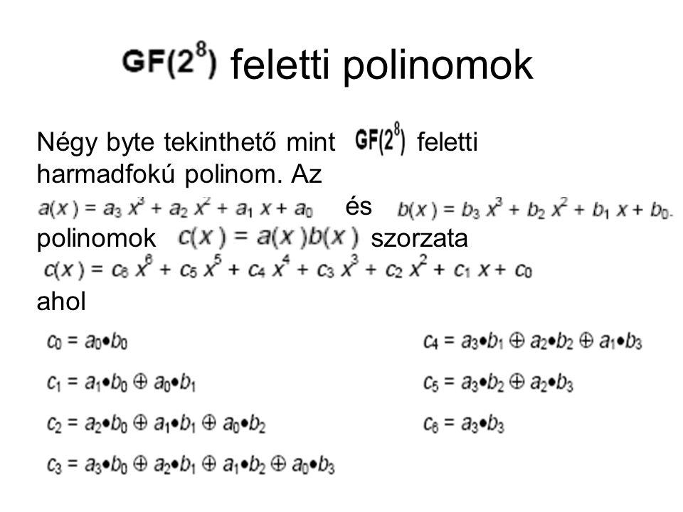 feletti polinomok Négy byte tekinthető mint feletti harmadfokú polinom. Az. és. polinomok szorzata.