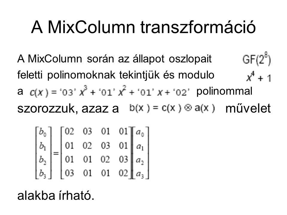 A MixColumn transzformáció