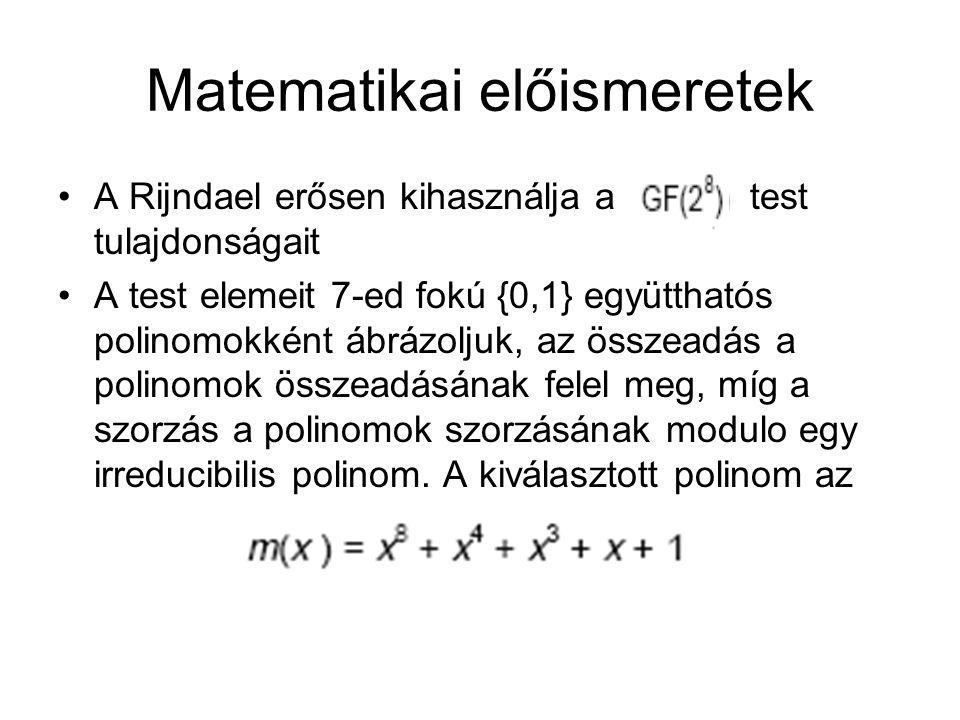 Matematikai előismeretek