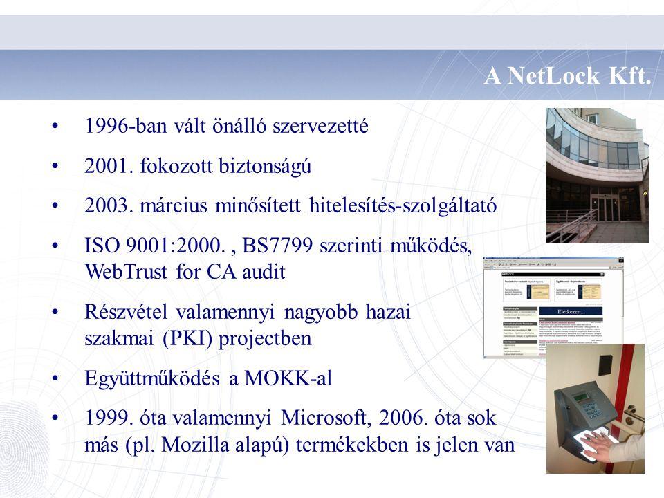 A NetLock Kft. 1996-ban vált önálló szervezetté