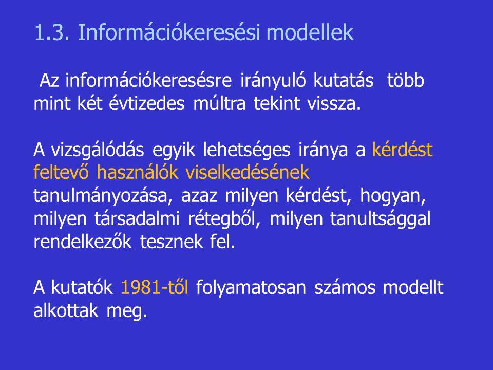 1.3. Információkeresési modellek
