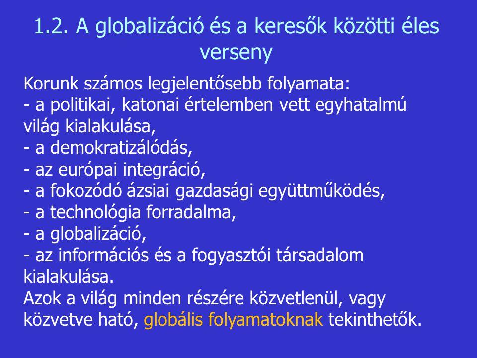1.2. A globalizáció és a keresők közötti éles verseny