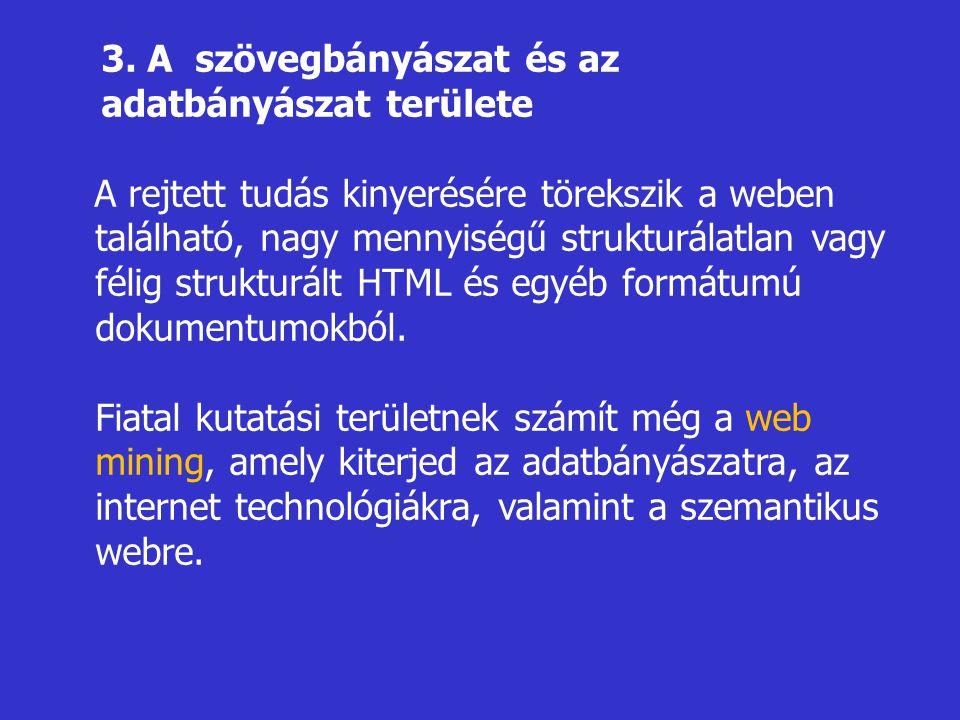 3. A szövegbányászat és az adatbányászat területe