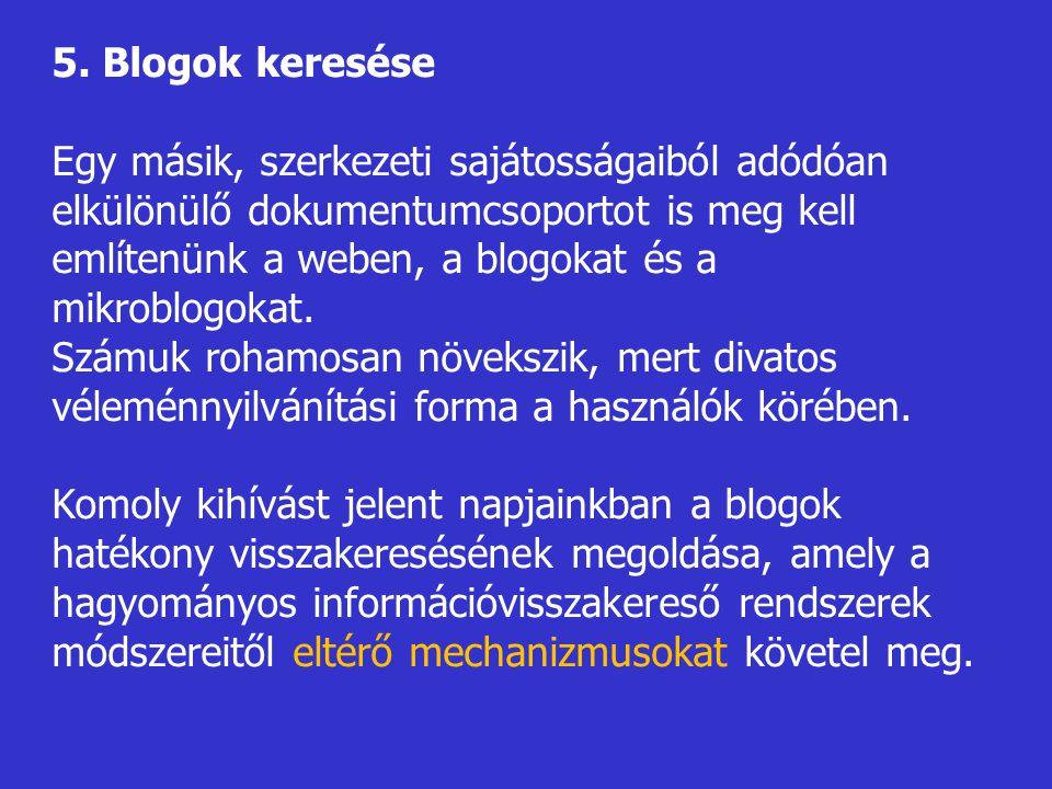 5. Blogok keresése