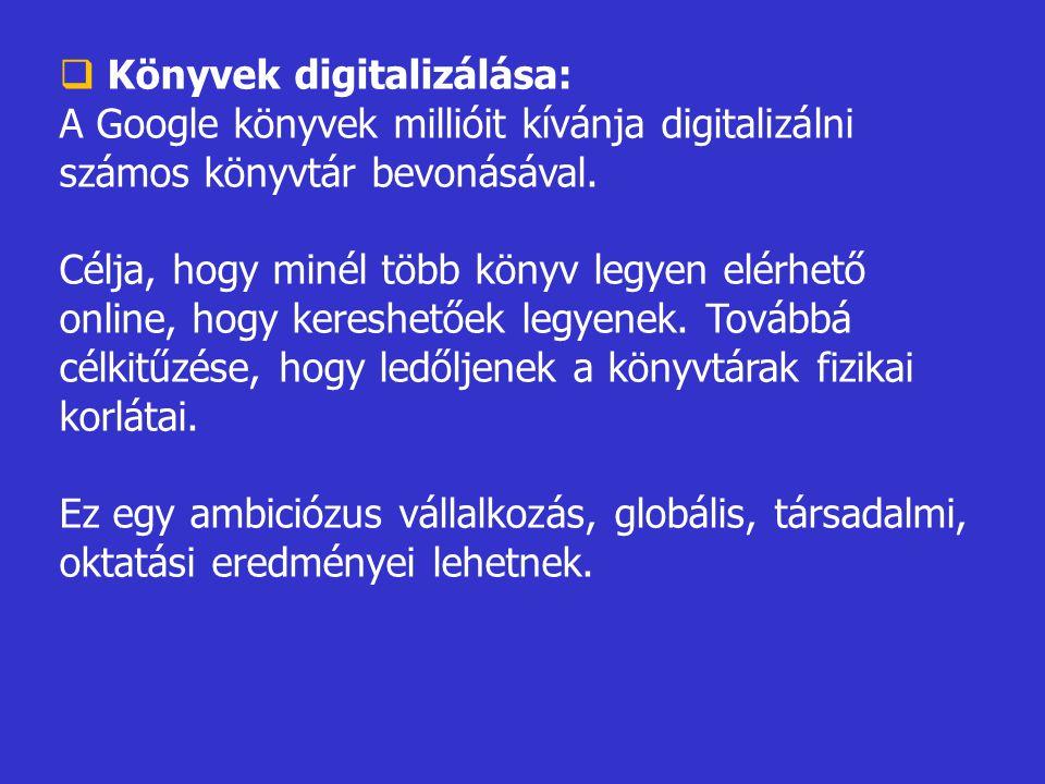Könyvek digitalizálása: