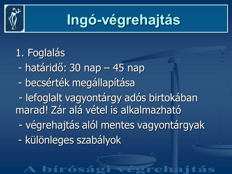 A bírósági végrehajtás