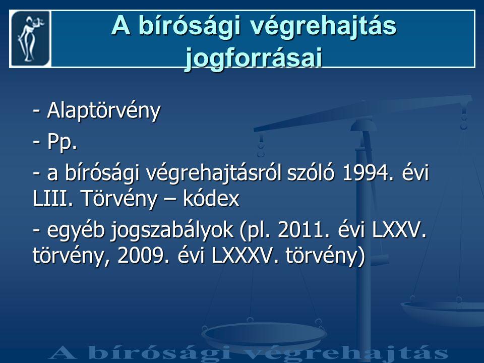 A bírósági végrehajtás jogforrásai