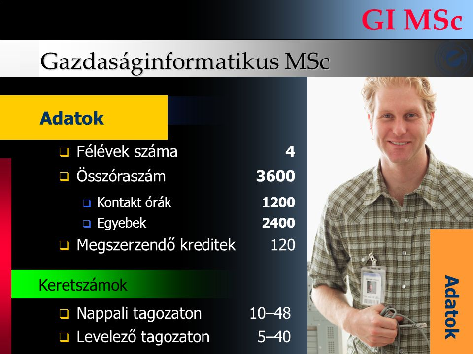 Gazdaságinformatikus MSc