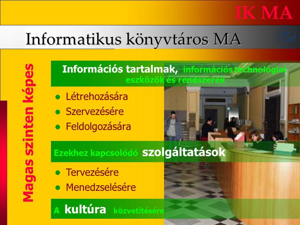 Informatikus könyvtáros MA