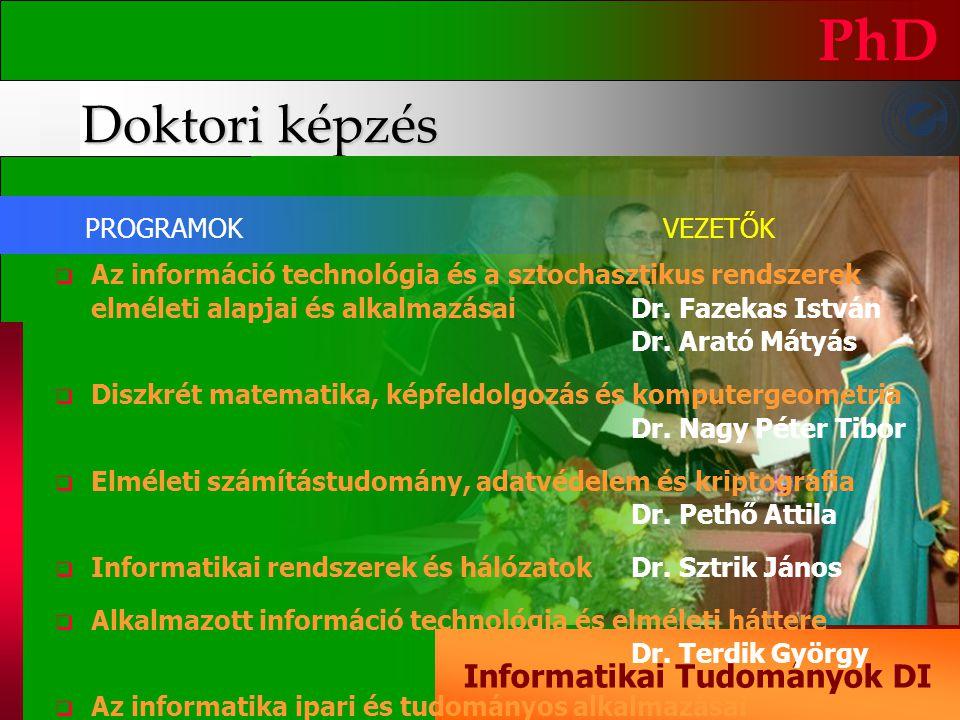 Informatikai Tudományok DI