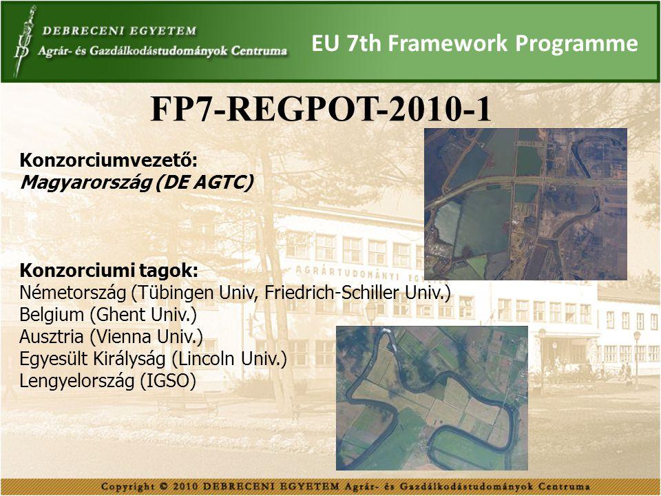 FP7-REGPOT-2010-1 EU 7th Framework Programme Konzorciumvezető: