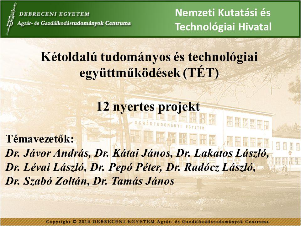 Kétoldalú tudományos és technológiai együttműködések (TÉT)