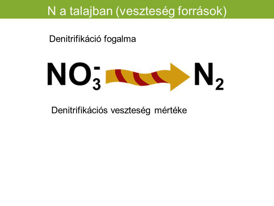 N a talajban (veszteség források)