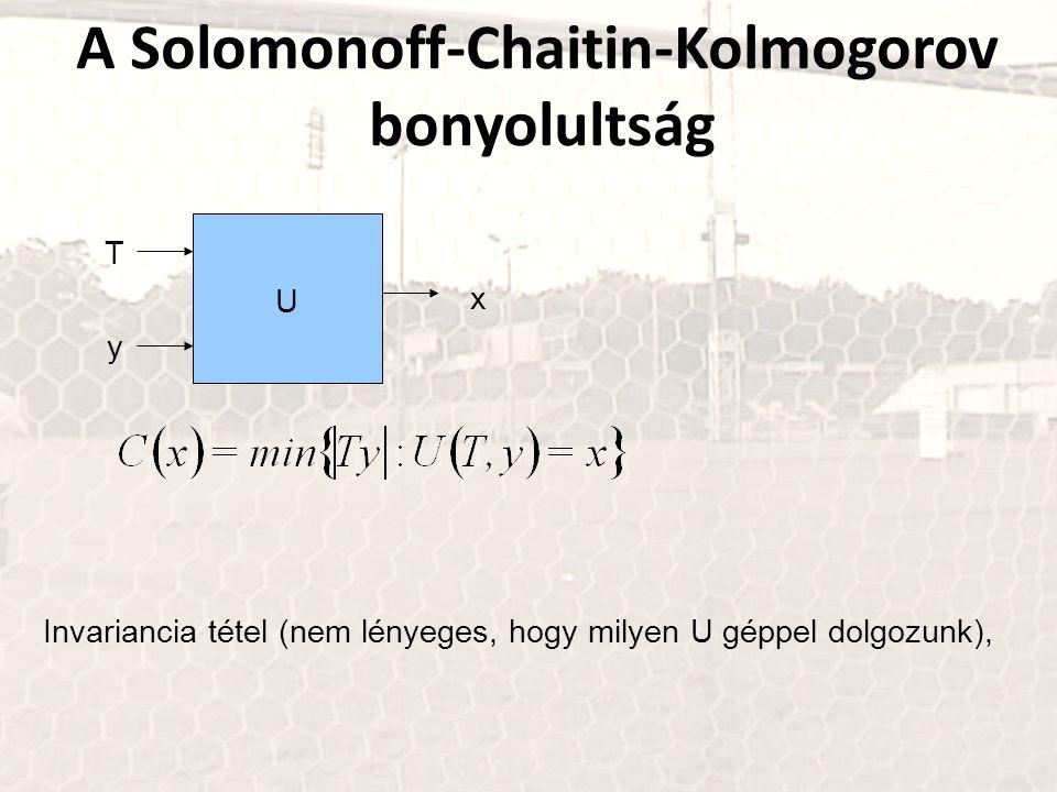 A Solomonoff-Chaitin-Kolmogorov bonyolultság