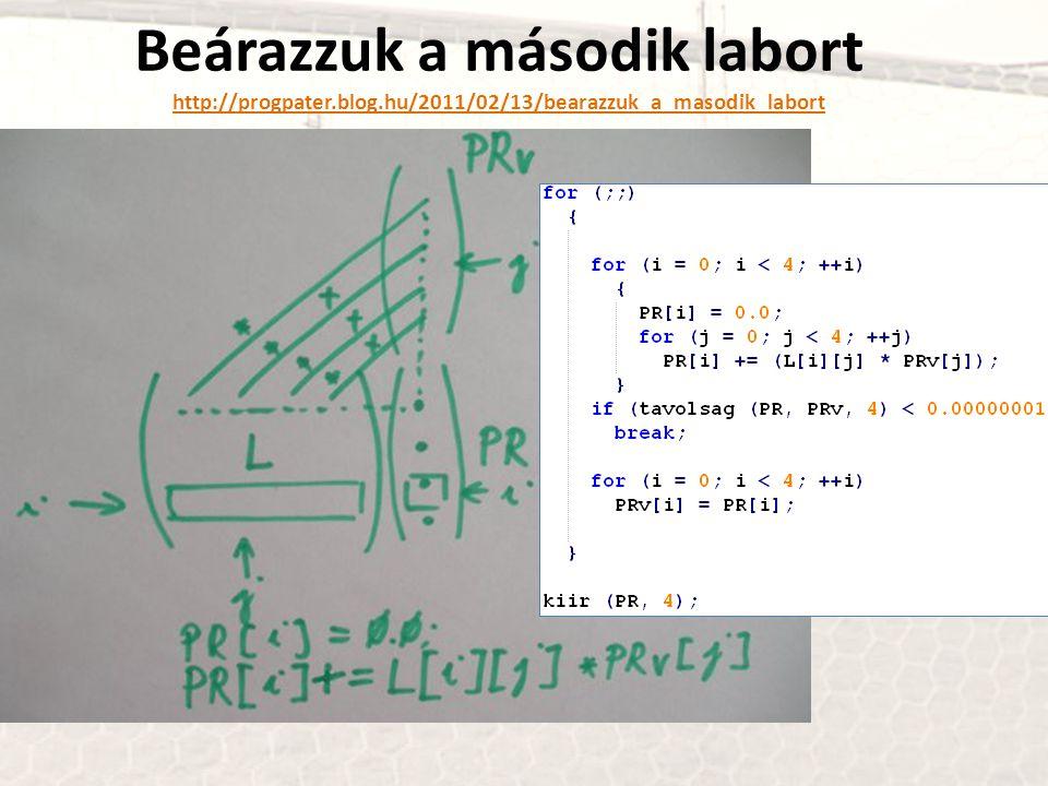 Beárazzuk a második labort http://progpater. blog