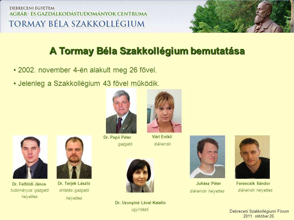 A Tormay Béla Szakkollégium bemutatása