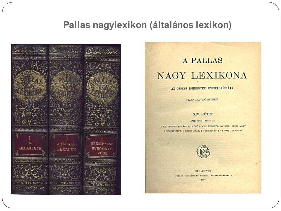 Pallas nagylexikon (általános lexikon)