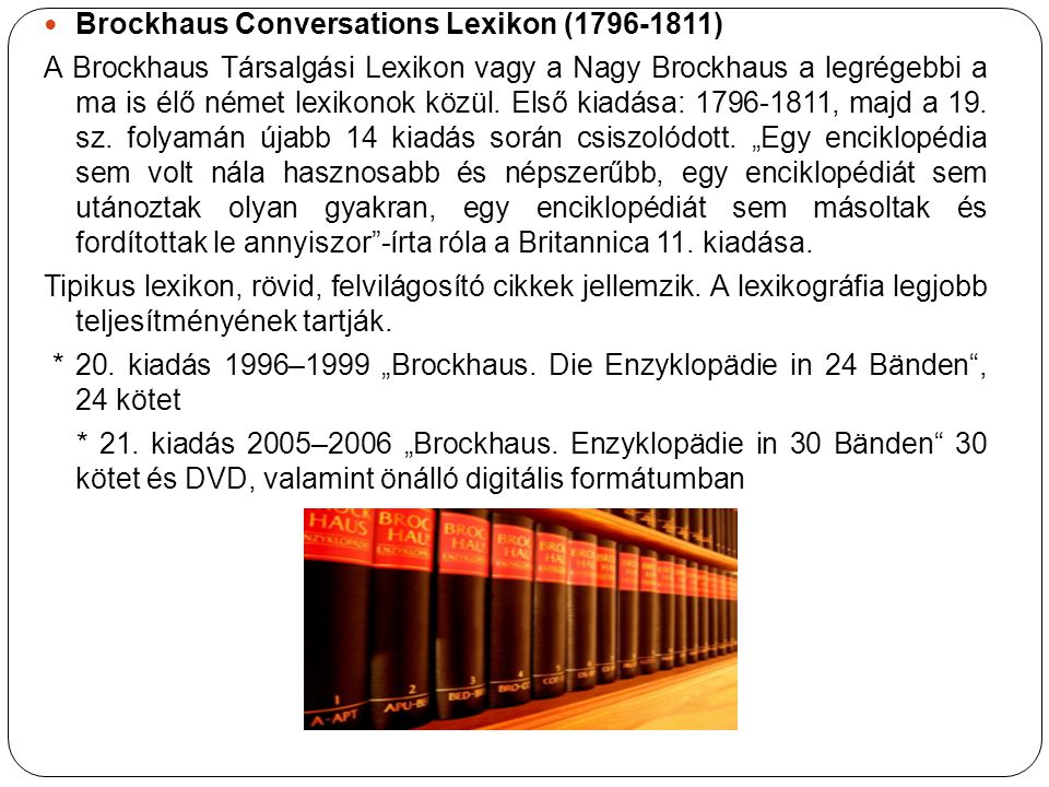 Brockhaus Conversations Lexikon (1796-1811)