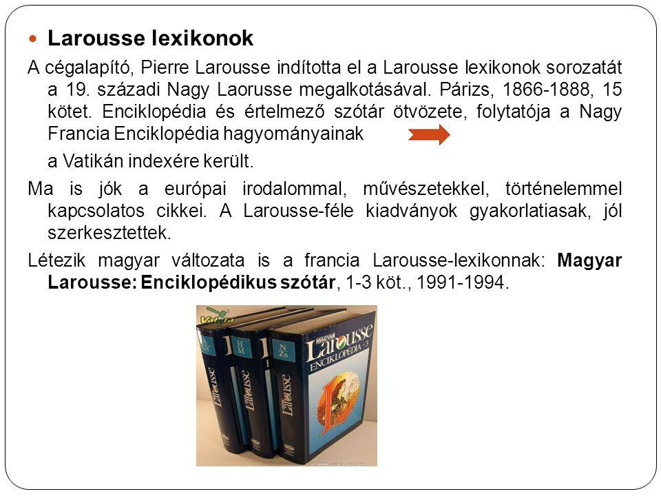 Larousse lexikonok