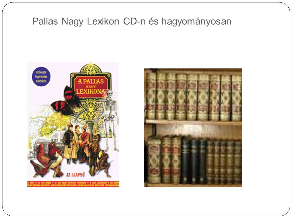 Pallas Nagy Lexikon CD-n és hagyományosan