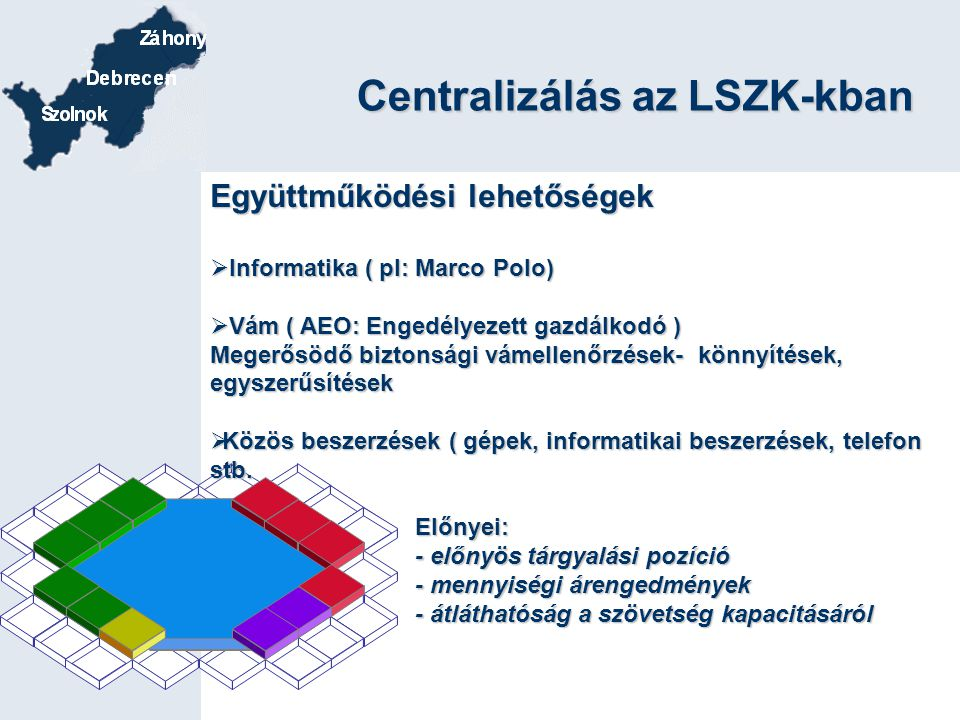 Centralizálás az LSZK-kban