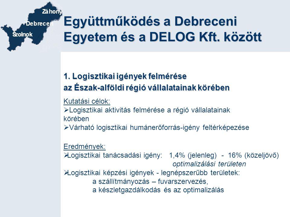 Együttműködés a Debreceni Egyetem és a DELOG Kft. között