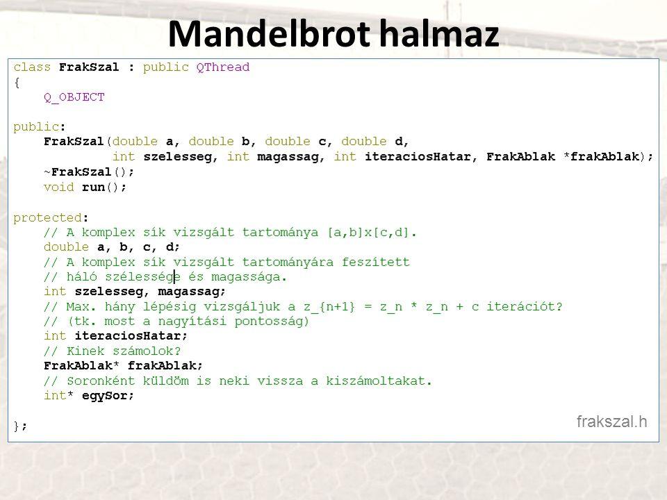 Mandelbrot halmaz frakszal.h