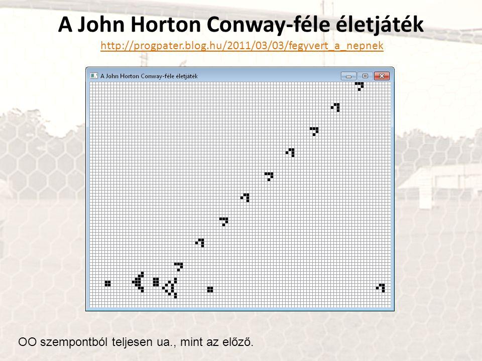 A John Horton Conway-féle életjáték http://progpater. blog