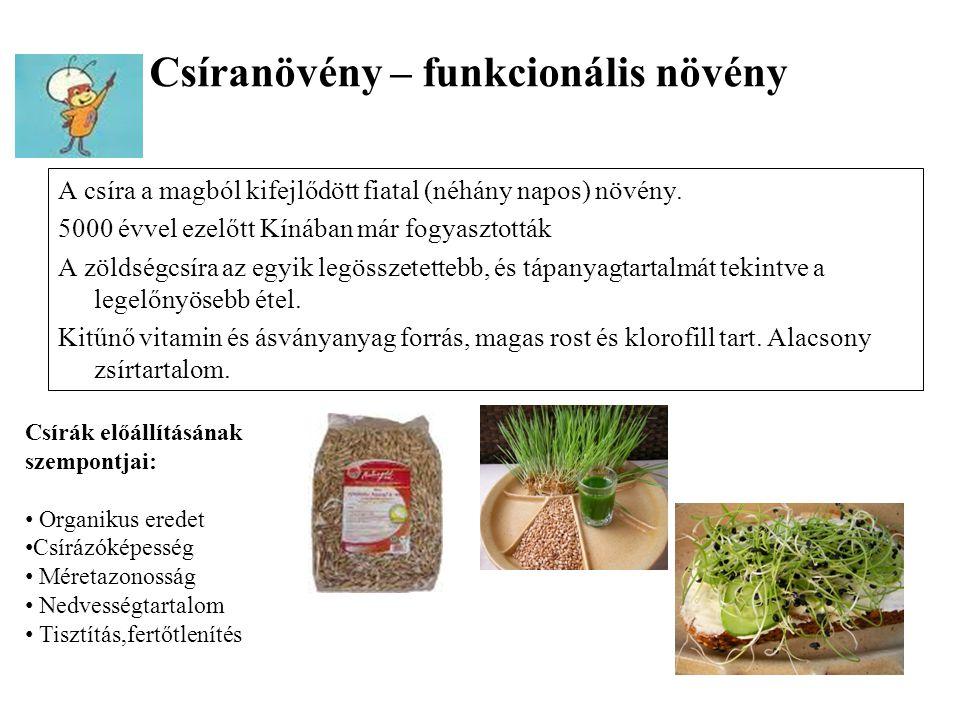 Csíranövény – funkcionális növény