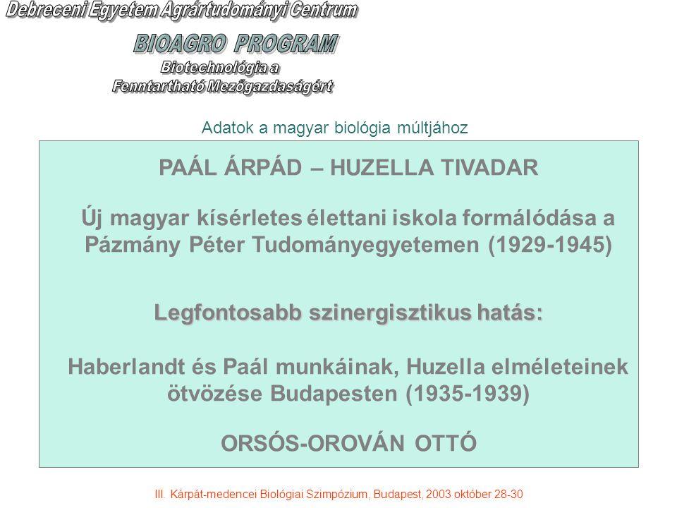 PAÁL ÁRPÁD – HUZELLA TIVADAR