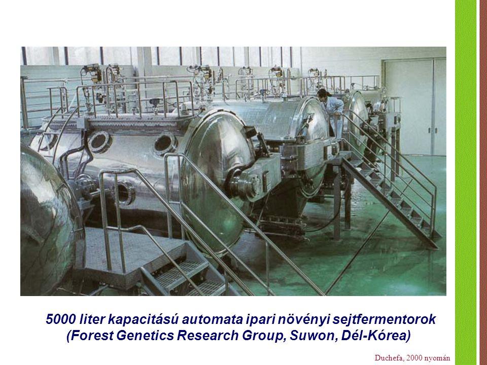 5000 liter kapacitású automata ipari növényi sejtfermentorok