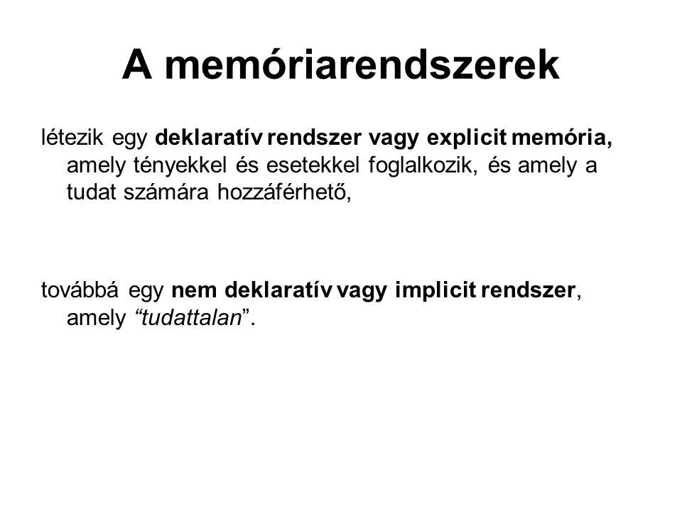 A memóriarendszerek