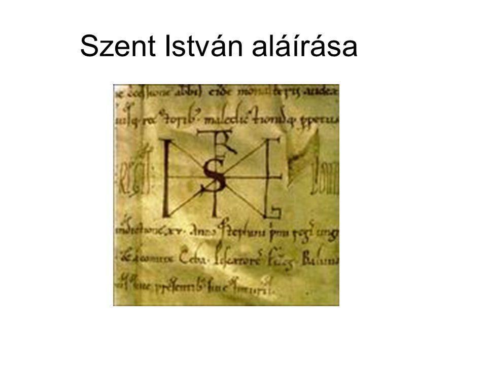 Szent István aláírása