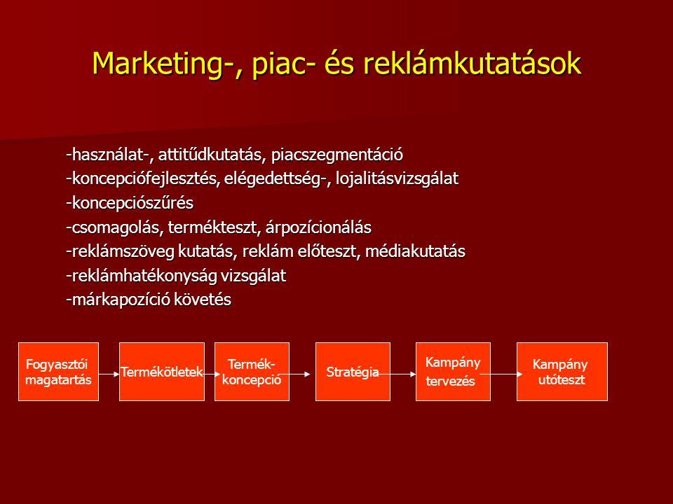 Marketing-, piac- és reklámkutatások