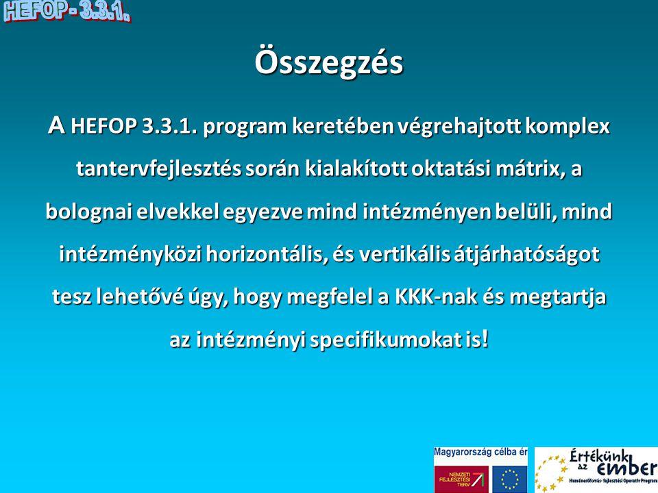 HEFOP - 3.3.1. Összegzés.