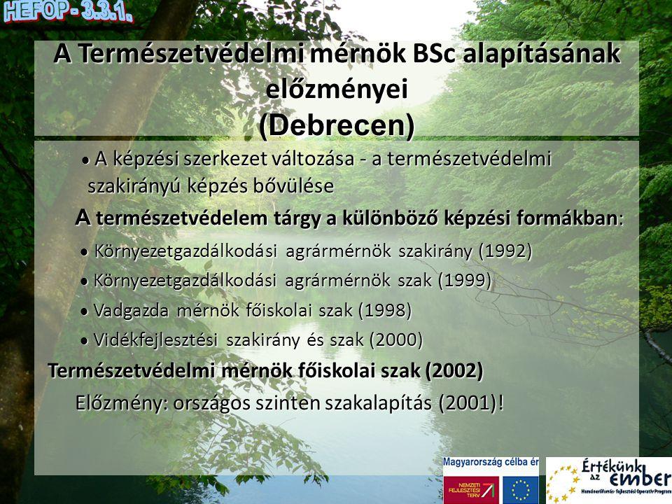 A Természetvédelmi mérnök BSc alapításának előzményei (Debrecen)